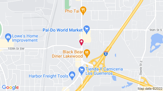 Western Inn Lakewood/Tacoma Map