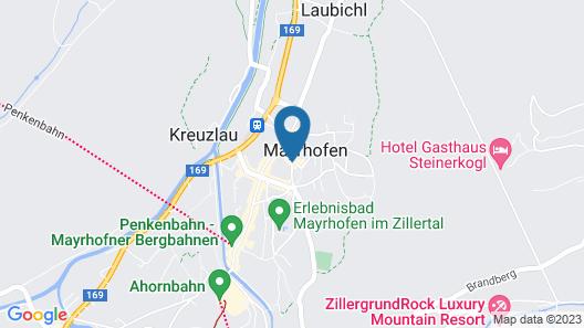 Posthotel Mayrhofen Map