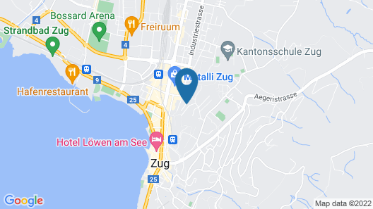 Experience Very Central Zug in a Quiet Place Map
