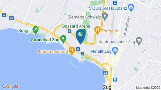 Youth Hostel Zug Map