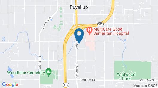 Hampton Inn & Suites by Hilton-Tacoma/Puyallup, WA Map
