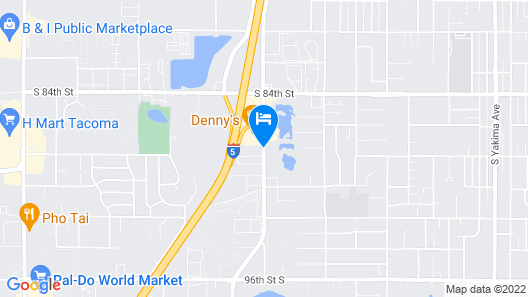 Travelodge by Wyndham Tacoma Near McChord AFB Map