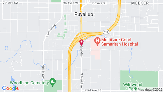 Motel Puyallup Map