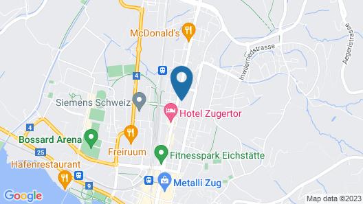 Anstatthotel.ch Zug Map