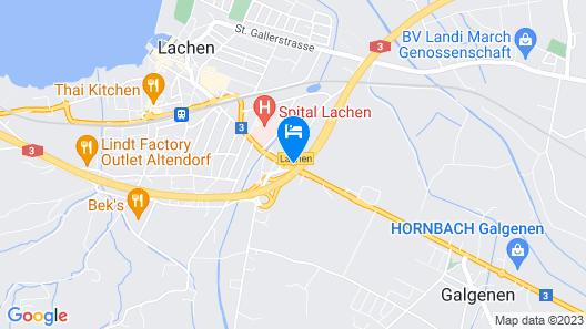 Hotel am Kreisel Map