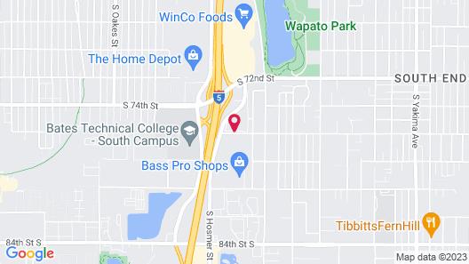 Motel 6 Tacoma, WA - South Map