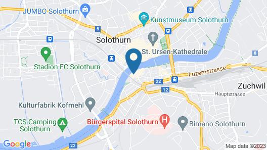 Hotel an der Aare Swiss Quality Map