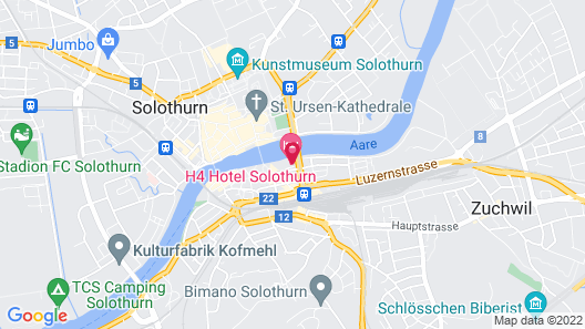H4 Hotel Solothurn Map