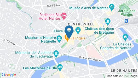 Oceania Hôtel de France Nantes Map