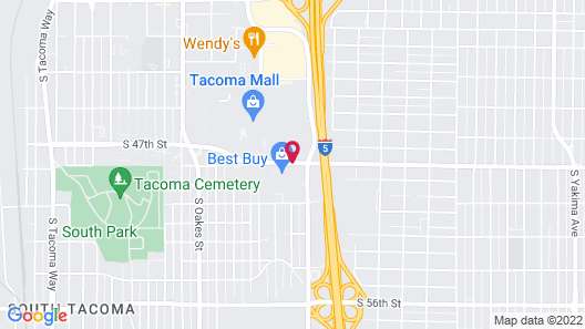 Extended Stay America - Tacoma - South Map