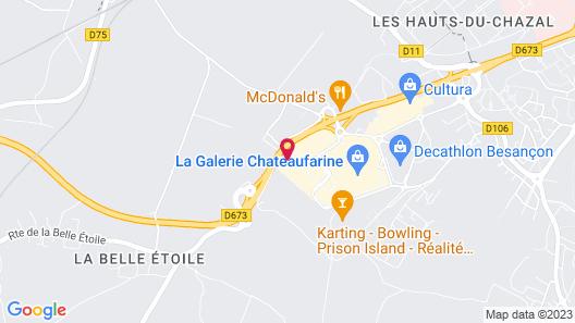 Hôtel Siatel Besançon Chateaufarine Map