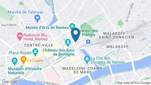 Aparthotel Adagio Nantes Centre Map