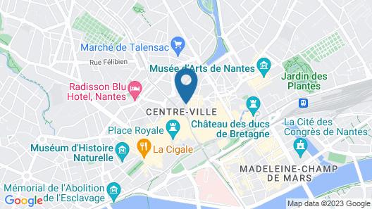 Hôtel Le Petit Duquesne Map