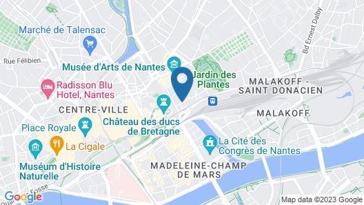 The Originals City, Hôtel Novella, Nantes Centre Gare (Inter-Hotel) Map