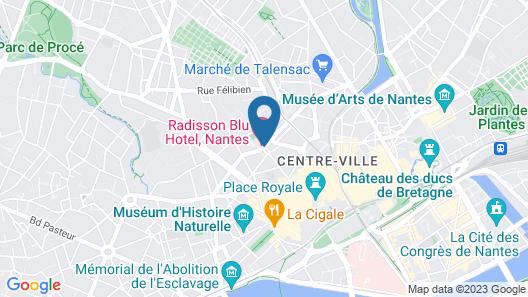 Radisson Blu Hotel Nantes Map