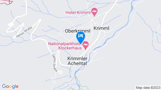 Modern Apartment With Sauna in Krimml Map