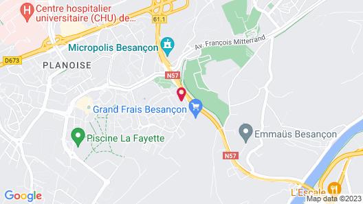 hotelF1 Besancon Micropolis Map