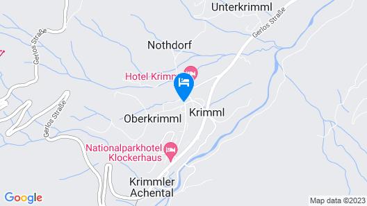 Hotel Krimmlerfälle Map