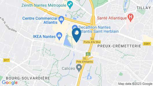 Appart'City Confort Nantes Ouest Saint-Herblain Map