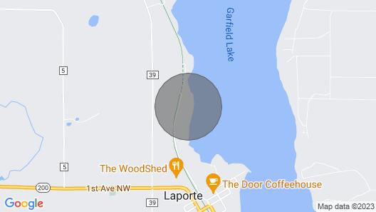 Log Cabin on Garfield Lake Near Walker MN Map