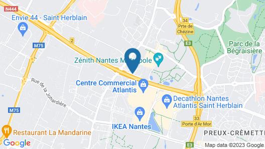 Best Western Hotel Atlantys Zenith Nantes Map
