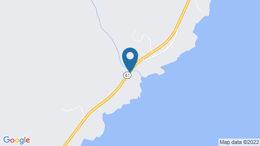 Romantic Cabin-only Private Black Sand Beach on Lake Superior Map