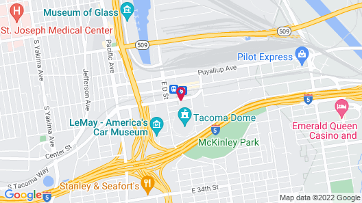 Comfort Inn & Suites Downtown Tacoma Map