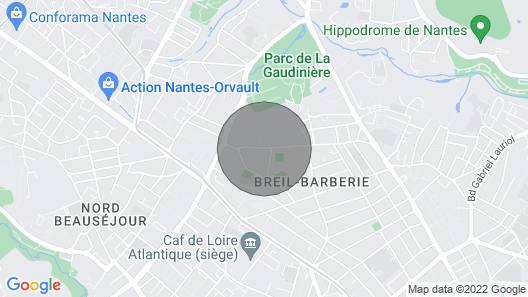 Gite Nantes, 5 Bedrooms, 8 Persons Map