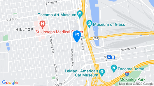 Holiday Inn Express Hotel & Suites Tacoma Downtown Map