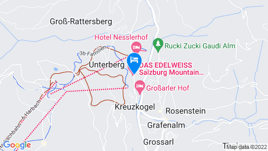Das Edelweiss - Salzburg Mountain Resort Map