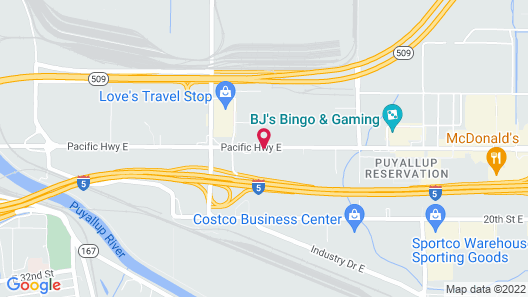 Travelodge by Wyndham Port of Tacoma WA Map
