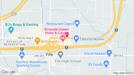 Quality Inn & Suites Fife Seattle Map