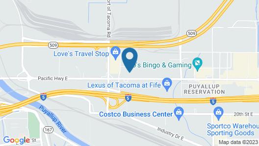 Port of Tacoma Inn Map