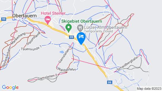 VALAMAR OBERTAUERN HOTEL ex. Petersbühel Map