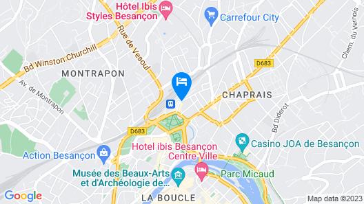 Hôtel Victor Hugo & Spa Map