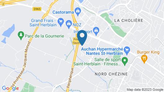 ibis budget Nantes Nord Saint-Herblain Map
