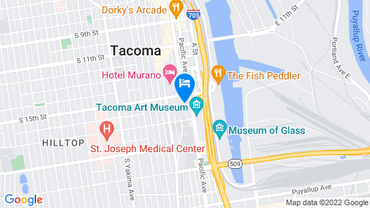 Courtyard by Marriott Tacoma Downtown Map