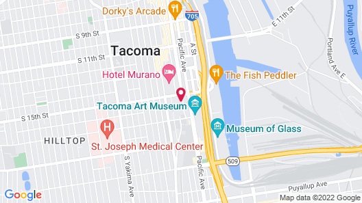 Marriott Tacoma Downtown Map