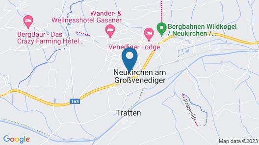 Spacious Chalet in Neukirchen am Großvenediger With Balcony Map