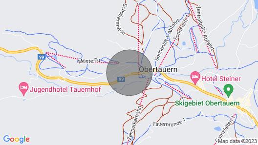 Steinadler Gamsleiten - Skiing Holiday in Obertauern Map