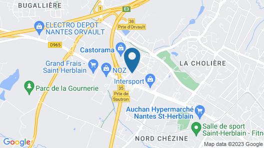 The Originals City, Hôtel Agora, Nantes Ouest (Inter-Hotel) Map