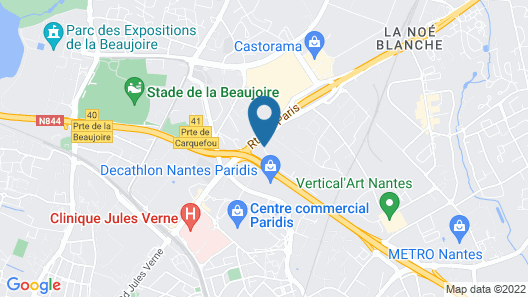 Sure Hotel by Best Western Nantes Beaujoire Map