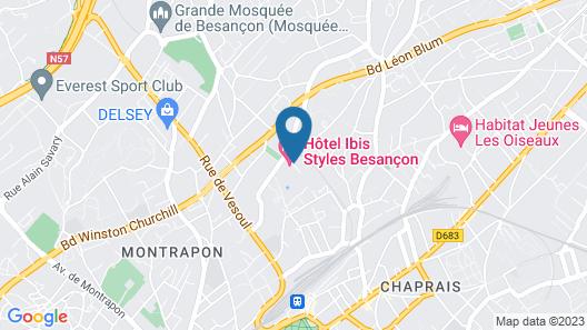 ibis Styles Besançon Map
