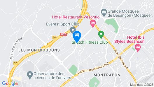 Hotel Vesontio (Ex Hotel Oxalys) Map