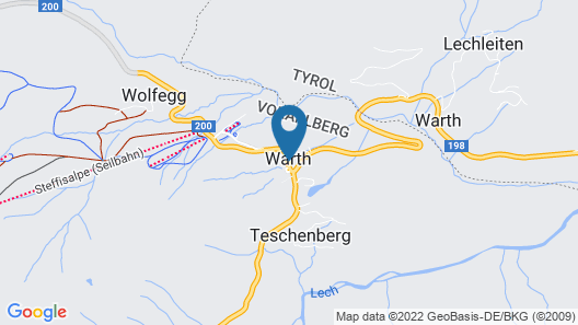 Hotel Walserberg Map