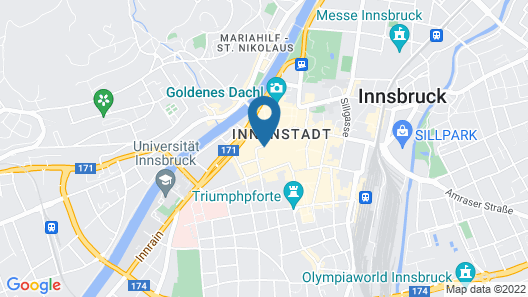 The Penz Hotel Map