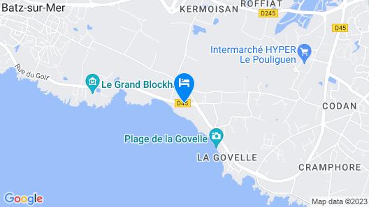 Hotel Le Lichen Map