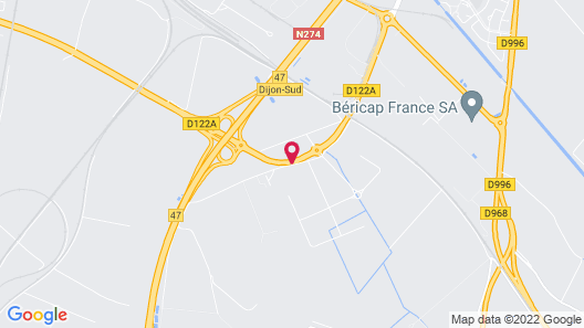 Comfort Hotel Dijon Sud Map