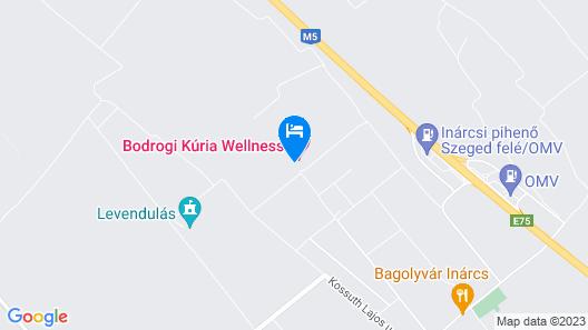 Bodrogi Kúria Wellness Hotel Map