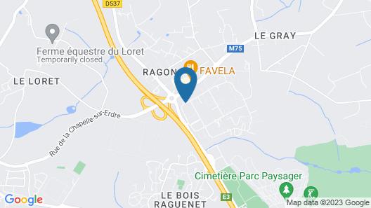 ibis Nantes Treillières Map